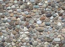 Kamiennej ściany fieldstone i betonowa naturalna budynek tekstura obraz stock