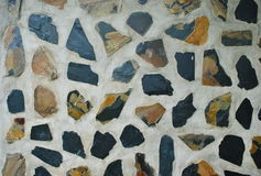 Kamiennej ściany powierzchowność, tekstury tło z dobrą teksturą obraz stock