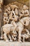Kamiennej ściany rzeźb szczegóły Zdjęcie Stock