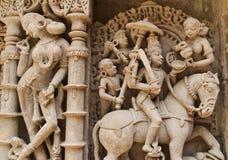 Kamiennej ściany rzeźb szczegóły gfw w Obrazy Stock