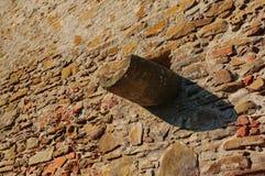 Kamiennej ściany szczegół obrazy royalty free