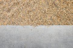 Kamiennej ściany tekstury tło i cement podłoga Zdjęcie Royalty Free