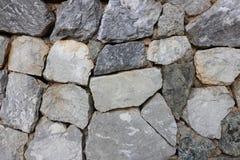 Kamiennej ściany wzór nowożytnego stylowego projekta kamiennej ściany dekoracyjna nierówna krakingowa istna powierzchnia z cement Obrazy Stock