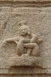 Kamienni bareliefy na ścianach Achyuta Rayas świątynia o kurtyzany ` s ulicie - Sule bazar w Hampi, Karnataka, India obrazy royalty free