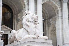 Kamienni lwy, Miasto Nowy Jork biblioteka zdjęcie stock