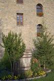 Kamienni okno Casa De San Martin austeria w Aragon, w Pyrenees górach, prowincja Huesca, Hiszpania fotografia royalty free