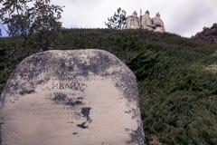 Kamienni opiekuny blisko Kotel miasta, Bułgaria fotografia stock