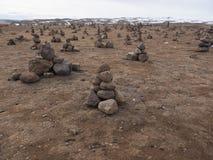 Kamienni ostrosłupy Zdjęcia Royalty Free