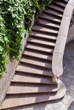 Kamienni schodki z marmurowymi krokami zdjęcie stock