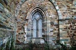 Kamienny łuk w kościół Villafranca Del Bierzo Leon Hiszpania obraz royalty free