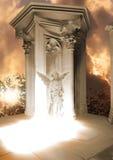 Kamienny anioła pojawienie obraz royalty free