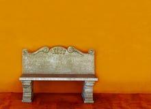 kamienny ławka rocznik Zdjęcia Royalty Free