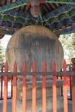 Kamienny bębenu zabytek w ShiGu wiosce blisko Lijiang Zdjęcie Royalty Free