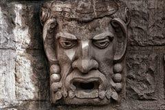 Kamienny barelief jakby głowa demon Obrazy Stock