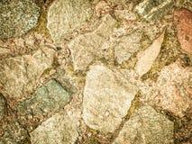 Kamienny brukowanie jako natury tło obraz royalty free