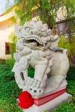 Kamienny carevd w lwa kształcie chińska świątynia Zdjęcia Royalty Free