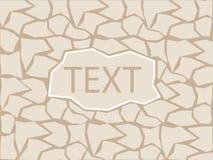 Kamienny cegiełka loga tło Zdjęcia Royalty Free