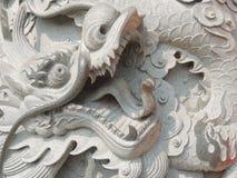 Kamienny chińczyka smok Obraz Royalty Free