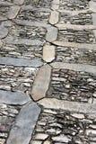 Kamienny chodniczek w perspektywie, tło Obraz Stock