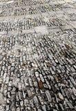 Kamienny chodniczek w perspektywie, tło Obrazy Royalty Free