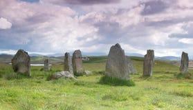 Kamienny cirle na Zewnętrznym Hebrides fotografia royalty free