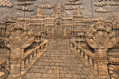 Kamienny cyzelowanie na ścianie Fotografia Royalty Free
