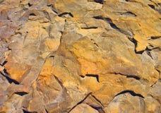 kamienny czerwieni kolor żółty Obrazy Stock