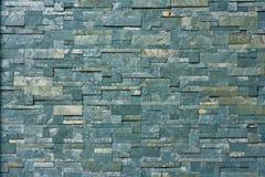 Kamienny dachówkowy tekstury ściana z cegieł Zdjęcia Royalty Free