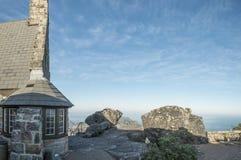 Kamienny dom na górze stołowej góry Zdjęcia Stock