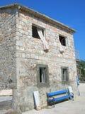 Kamienny dom w Dalmatia Zdjęcia Royalty Free