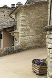 Kamienny dom w halnych włochów domach fotografia stock