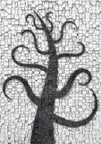 Kamienny drzewo Obrazy Royalty Free