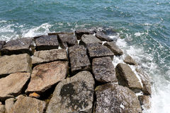 Kamienny falochron Zdjęcie Royalty Free