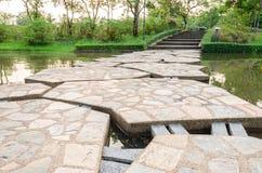 Kamienny footbridge Zdjęcia Royalty Free