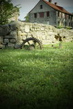 Kamienny gospodarstwo rolne dom zdjęcia stock