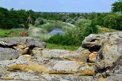 Kamienny grób Zdjęcia Stock