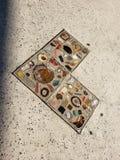 Kamienny i dachówkowy serce obrazy stock