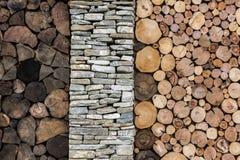 Kamienny i drewniany tło Fotografia Royalty Free