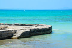 Kamienny jetty horyzont Obrazy Stock
