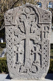 Kamienny Khachkar w Echmiadzin, Armenia, Kaukaz (Vagharshapat) Obrazy Royalty Free