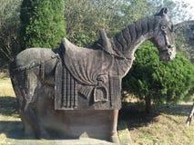 Kamienny koński statuaryczny fotografia royalty free