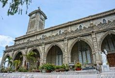 Kamienny kościół, antyczna katedra, nha trang, Vietnam obraz stock