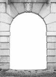 Kamienny łękowaty biel odizolowywający Fotografia Stock