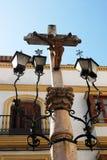 Kamienny krucyfiks, Aguilar de los angeles Frontera Zdjęcia Royalty Free