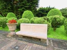 Kamienny krzesło Zdjęcia Royalty Free