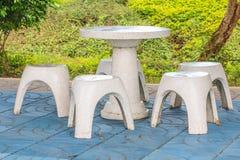 Kamienny krzesło w parku Fotografia Royalty Free
