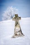 Kamienny krzyż Obraz Royalty Free