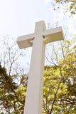 Kamienny krzyż z niebem zdjęcie royalty free
