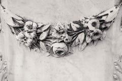 Kamienny kwiecisty ornament Fotografia Royalty Free