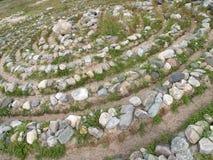 Kamienny labitynt na Dużej Solovki wyspie, Rosja Fotografia Royalty Free